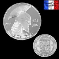 1 Pièce Plaquée ARGENT ( SILVER Plated Coin) - Bitcoin Titan BTC - Coins