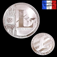 1 Pièce Plaquée ARGENT ( SILVER Plated Coin ) - Litecoin LTC ( Ref 5 ) - Coins