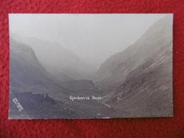 LLANBERIS PASS PHOTOGRAPHED S.G HUGHES CAPEL CURIG CARTE PHOTO - Pays De Galles