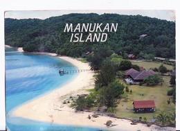 CARTOLINA MALESIA MANUKAN ISLAND CON FRANCOBOLLO -TUNKU ABDUL RAHMAN PARK - Malesia