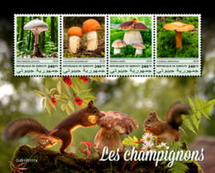 Djibouti 2019 Mushrooms Food Squirrel S/S DJB190101a - Unclassified