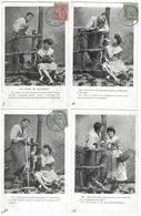 Fantaisie - Lot Complet De 6 CPA - Les Noces De Jeannette - 1905-1906 - Fantaisies