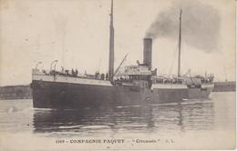 "PAQUEBOTS - 1169 - COMPAGNIE PAQUET - "" Circassie "" - Paquebots"