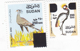 Sudan New Issue 2019, Revalued Stamps BIRDS 2 Valeurs High Values MNH - SKRILL PAYMENT ONLY- Nice Topical Subject - Sudan (1954-...)