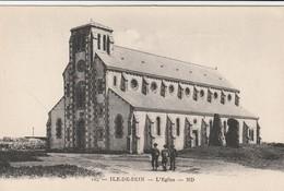 Rare Cpa Ile De Sein L'église - Ile De Sein