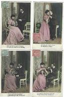 Fantaisie - Lot De 5 CPA - Couple - Années 1900 - Fantaisies