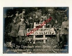 CHASSE Aux RATS-Proie Journaliere-Rattenjagd-Grosse CP PHOTO All.-Guerre 14-18-1WK-Militaria-Paul HOFFMANN - Weltkrieg 1914-18