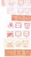 Niederlande 7 Freistempel Willemstad, Goes, Sittard, Amsterdam, Asperen, Genemuiden, Zutphen - Wappen, Haus - Meterstamp - Affrancature Meccaniche Rosse (EMA)