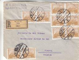 Autriche - Devant De Lettre Recom De 1931 ° - Oblit Wien 125 - Exp Vers Ninove - Briefe U. Dokumente