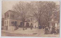 VALLON (Ardèche) - Place Du Verger - Carte-photo Beaumel - Vallon Pont D'Arc
