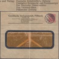Allemagne 1913. Entier Postal TSC. Journal Des Dentistes, Le Marché Du Bois, Le Maître Verrier (verre) - Vetri & Vetrate