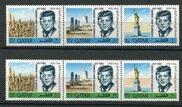 Qatar ** N° 128 A à 133 A - J.F. Kennedy- - Qatar