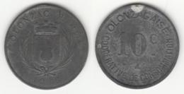 Monnaie De Nécessité - 10 Ct Coopérative De Consomation Olonzac ( Hérault ) 1918 - France