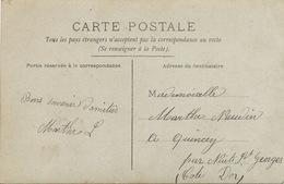 Envoi à Marthe Naudin à Quincey Par Nuits St Georges Cote D' Or. Belle Femme - Autres Communes