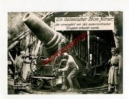 CANON 280 ITALIEN-Ital. MÖRSER-Grosse CP PHOTO Allemande-Guerre 14-18-1WK-Militaria-Paul HOFFMANN - Oorlog 1914-18