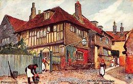 The Old Mermaid Inn Rye Sussex 1919 Postcard - United Kingdom