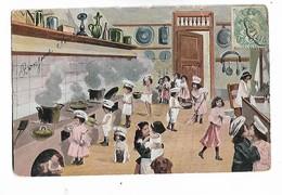 """Beaucoup  Des  Enfants  """" Chefs """"  Dans Grande Cuisine - Children's Drawings"""