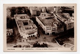 - CPA CASABLANCA (Maroc) - L'Avenue Du Général D'Amade En Avion - Photo Flandrin 926 - - Casablanca
