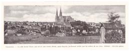 1924 - Iconographie - Chartres (Eure-et-Loire) - Vue Générale - FRANCO DE PORT - Vieux Papiers