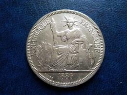 INDOCHINE   1  Piastre   1886    -- TB+ -- - Colonie