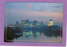 TN NASHVILLE TENNESSEE A Peaceful View Of The Nashville Skyline Reflecting On The Cumberland River - Nashville