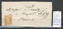 France- Etoile Muette - Lettre Locale Paris - Route 3 - Yvert 13A Margé - Marcophilie (Lettres)