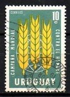 URUGUAY. N°713 Oblitéré De 1963. Campagne Mondiale Contre La Faim. - Tegen De Honger