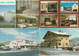 Lot De 12 Cartes---hotels--restaurants---france - Postkaarten