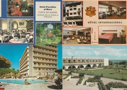 Lot De 12 Cartes---hotels--restaurants---pays Etrangers - Postkaarten