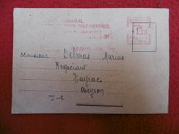 TIMBRE ROUGE IMPRIME FLAMME COMITE GENERAL D ORGANISATION DU COMMERCE VIGNETTE REGIME DE VICHY - 1921-1960: Moderne