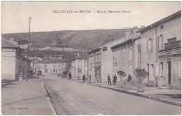 55 - BELLEVILLE-sur-MEUSE - Rue Du Maréchal Pétain (Petite Animation) - France