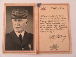 Carte Postale Ouvrante - Maréchal Pétain Avec Un Texte Imprimé Pour Noël 1940 - Propagande - Cachet Vichy 1941 - Hommes Politiques & Militaires