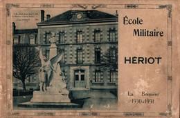 ALBUM SOUVENIR  PHOTO ECOLE MILITAIRE HERIOT LA BOISSIERE 1930 - Livres