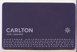 Singapore Carlton Hotel  Keycard - Hotelsleutels (kaarten)