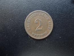 ALLEMAGNE : 2 PFENNIG   1912 G   KM 16      TTB - [ 2] 1871-1918 : German Empire