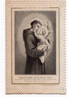 SAINT ANTOINE DE PADOUE  IMAGE RELIGIEUSE XIXéme  DOUBLE VOLET - Images Religieuses