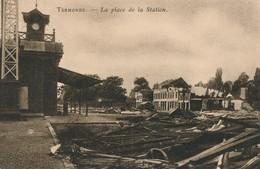 CPA - Belgique - Dendermonde - Termonde - La Place De La Station - Dendermonde