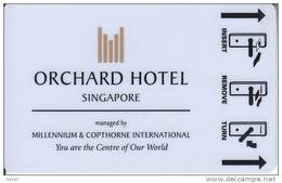 Orchard Hotel Singapore Keycard - Cartes D'hotel