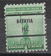 USA Precancel Vorausentwertung Preo, Bureau Illinois, Batavia 899-71 - Vorausentwertungen