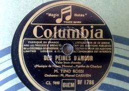 """78 Tours - DISQUE """"GRAMOPHONE"""" BF 1789 TINO ROSSI DES PEINES D AMOUR ET IL PLEUT SUR LA ROUTE COLUMBIA - 78 G - Dischi Per Fonografi"""