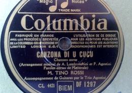 """78 Tours - DISQUE """"GRAMOPHONE"""" BF 1789 TINO ROSSI CANZONE DI U CUCU ET AJACCIU  BELLU CORSICA  COLUMBIA - 78 Rpm - Schellackplatten"""
