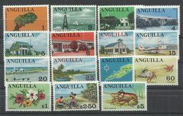 ANGUILA  YVERT  1/15   MNH  ** - Anguilla (1968-...)