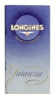 Collezionismo - Garanzia Orologio Longines - 1950 - Vieux Papiers