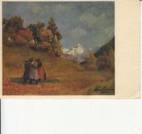 1943, Pro Juventute, Hans Vautier, Aben Im Bergtal, Soir Dans La Vallée, Avec Timbre P.J. - Other