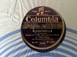 """78 Tours - DISQUE """"GRAMOPHONE"""" DF 1920 TINO ROSSI O CUICIARELLA ET NINI NANNA CORSICA COLUMBIA - 78 T - Disques Pour Gramophone"""