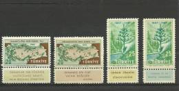 Turkey ; 1957 The Centenary Of The Instruction Of Forestry In Turkey - 1921-... République