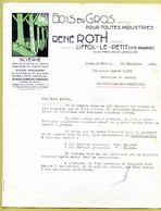 "LIFFOL-LE-PETIT  (52) : "" BOIS EN GROS - René ROTH ""  1952 - France"