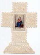 SAINTE ADELE    CANIVET XIXéme  EN FORME DE CROIX  RARE - Images Religieuses
