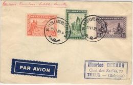 RUANDA-URUNDI 93 95 102 (o) Lettre Cover Brief Par Avion Vol Usumbura - Endebbe - Bruxelles Belgique 27 Novembre 1939 - 1924-44: Lettres