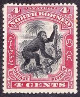 NORTH BORNEO 1900 4c Black & Carmine SG99b MH - North Borneo (...-1963)